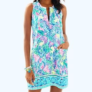 Lilly Pulitzer Kelby Stretch Shift Mermaid Cove